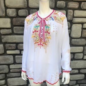 Johnny Was Dragonfly Blouse NWT sz S